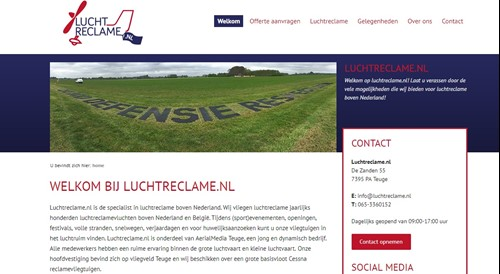 Luchtreclame.nl website live